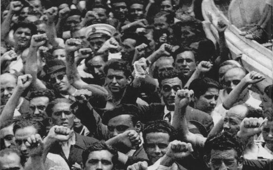 Llegada a Veracruz del 'Sinaia' tras la Guerra Civil. Reproducida del libro 'Sinaia'